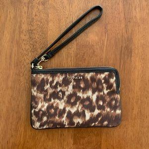 Small Coach Wristlet. Leopard print.